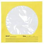 Imagem - Envelope para CD/DVD Amarelo 125x125mm - Caixa com 100 Unidades