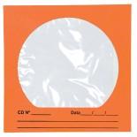 Imagem - Envelope para CD/DVD Laranja 125x125mm - Caixa com 100 Unidades