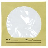 Imagem - Envelope para CD/DVD Ouro 125x125mm - Caixa com 100 Unidades
