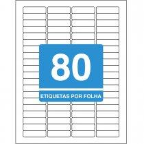 Imagem - Etiqueta Adesiva Inkjet + Laser Carta 12,7x44,4mm 6187100 Folhas 8000 Unidades