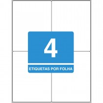 Imagem - Etiqueta Adesiva Inkjet/Laser Carta 138,11mmx106,36mm TB6188 400 Unidades