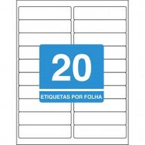 Imagem - Etiqueta Adesiva Inkjet/Laser Carta 25,4mmx101,6mm TB61812000 Unidades