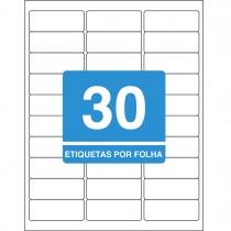 Imagem - Etiqueta Adesiva Inkjet + Laser Carta 25,4x66,7mm 6080 10 Folhas 300 Unidades