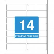 Imagem - Etiqueta Adesiva Inkjet/Laser Carta 33,9mmx101,6mm TB61821400 Unidades