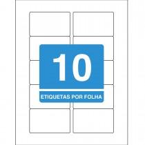 Imagem - Etiqueta Adesiva Inkjet + Laser Carta 46,56x77,79mm 8099F 10 Folhas 100 Unidades
