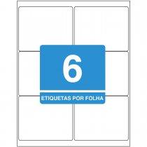Imagem - Etiqueta Adesiva Inkjet + Laser Carta 84,7x101,6mm 6184 100 Folhas 600 Unidades