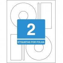 Imagem - Etiqueta Adesiva Inkjet + Laser CD/DVD 115mm CD25B25 Folhas 50 Unidades