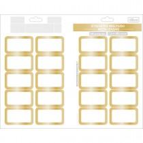 Imagem - Etiqueta Adesiva Multiuso Metalizada 32x55mm 40 Unidades