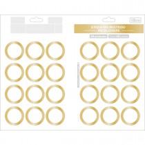 Imagem - Etiqueta Adesiva Multiuso Metalizada 35mm 48 Unidades
