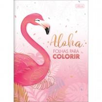 Imagem - Folhas para Colorir Aloha 8 Folhas