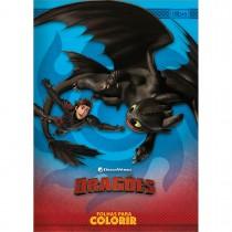Imagem - Folhas para Colorir Dragões 8 Folhas