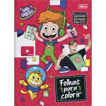 Imagem - Folhas para Colorir Gato Galactico 8 Folhas