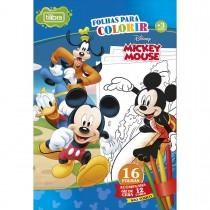 Imagem - Folhas para Colorir Gigante com Giz de Cera Mickey - 16 Folhas