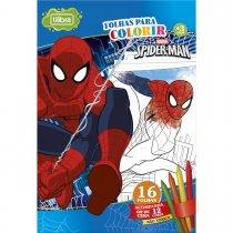 Imagem - Folhas para Colorir Gigante com Giz de Cera Spider-Man - 16 Folhas
