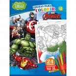 Imagem - Folhas para Colorir Grande com Giz de Cera Avengers - 24 Folhas