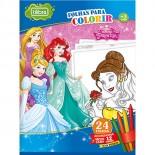 Imagem - Folhas para Colorir Grande com Giz de Cera Princesas - 24 Folhas