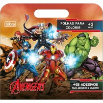 Imagem - Folhas para Colorir Maleta Avengers 8 Folhas