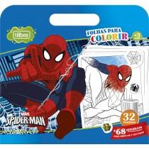 Imagem - Folhas para Colorir Maleta com Adesivo Spider-Man - 16 Folhas