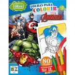 Imagem - Folhas para Colorir Mini com Giz de Cera Avengers - 80 Folhas