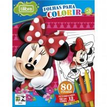 Imagem - Folhas para Colorir Mini com Giz de Cera Minnie - 80 Folhas