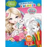 Imagem - Folhas para Colorir Mini com Giz de Cera Jolie - 80 Folhas