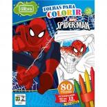 Imagem - Folhas para Colorir Mini com Giz de Cera Spider-Man - 80 Folhas