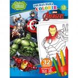 Imagem - Folhas para Colorir Pequeno com Giz de Cera Avengers - 16 Folhas