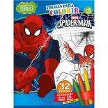 Imagem - Folhas para Colorir Pequeno com Giz de Cera Spider-Man - 16 Folhas