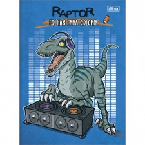 Imagem - Folhas para Colorir Raptor 8 Folhas