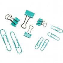 Imagem - Kit Clips e Prendedores de Papel Aqua