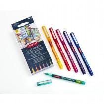 Imagem - Kit com 6 Canetas Coloridas Line Maker 0,3 Derwent