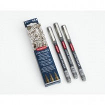 Imagem - Kit Estojo com 3 Canetas Graphik Line Maker 0,1/0,3/0,5mm Grafite