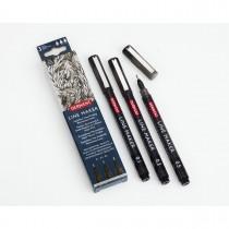 Imagem - Kit Estojo com 3 Canetas Graphik Line Maker 0,1/0,3/0,5mm Preta Derwent