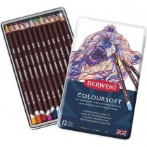 Imagem - Lápis de Cor Permanente Coloursoft 12 Cores Estojo Lata