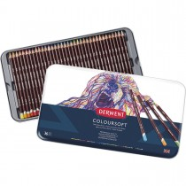 Lápis de Cor Permanente Coloursoft 36 Cores Estojo Lata
