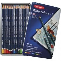Lápis de Cor Watercolour 12 Cores Estojo Lata
