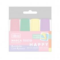 Imagem - Marca-Texto Mini Happy - Blister com 4 Unidades