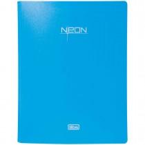 Imagem - Pasta Catálogo Polipropileno 0,65mm 20 Envelopes A4 Neon Azul