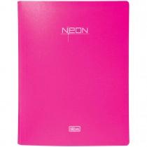 Pasta Catálogo Polipropileno 0,65mm 40 Envelopes A4 Neon Rosa