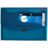 Pasta Sanfonada Polipropileno 0,65mm 12 Divisórias A4 Organizer Azul