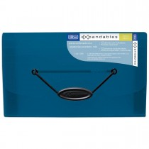Pasta Sanfonada Polipropileno 0,65mm 12 Divisórias Mini Organizer Azul