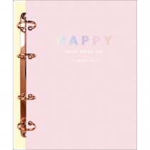 Imagem - Planner Argolado 17,7 x 24 cm Happy Rosa 90 Gramas 2021