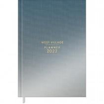 Imagem - Planner Costurado 13,4 x 19,2 cm West Village Metalizado 2022 - Degradê Azul e Prata - Sortido