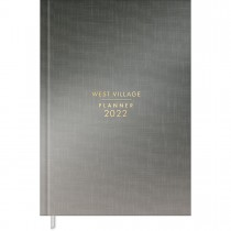 Imagem - Planner Costurado 13,4 x 19,2 cm West Village Metalizado 2022 - Degradê Chumbo e Prata - Sortido
