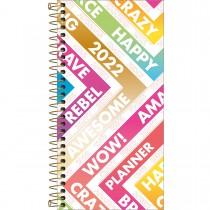 Imagem - Planner Espiral 11,9 x 24 cm Be Nice 90 G 2022 - Diagonais Coloridas - Sortido