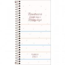 Imagem - Planner Espiral 11,9 x 24 cm Soho 90 G 2022 - Listras Azuis e Rosas - Sortido