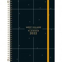 Imagem - Planner Espiral 12,9 x 18,8 cm West Village 2022 - Fundo Preto com Quadriculado - Sortido
