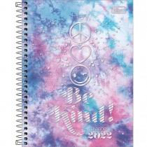 Imagem - Planner Espiral 17,7 x 24 cm Good Vibes 2022 - Magenta e Cian - Sortido