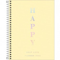 Imagem - Planner Espiral 17,7 x 24 cm Happy Amarelo 2022