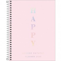 Imagem - Planner Espiral 17,7 x 24 cm Happy Rosa 2022